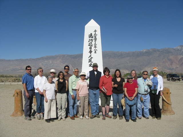 Our 2010 Only What We Can Carry Delegation at former Manzanar Concentration Camp�