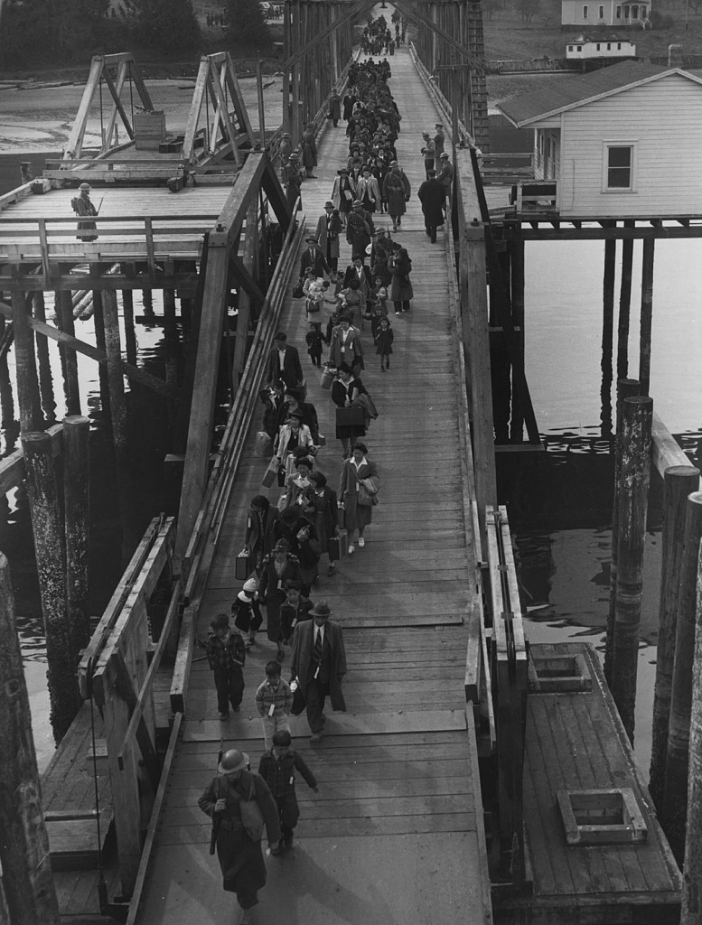 Japanese Americans on Bainbridge Island Ferry