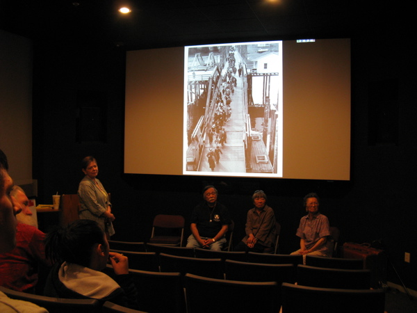 The Elders of our Delegation gave a public talk about the Bainbridge Island experience at Manzanar  in the Historic Site's Interpretive Center. �