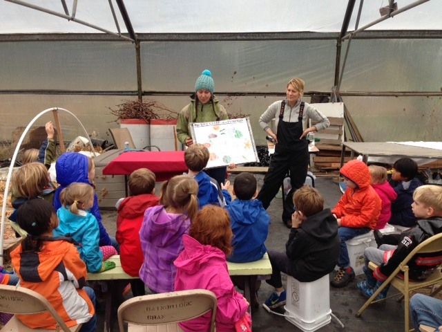 Studying the life cycle of a pumpkin with instructors Spring Courtright and Leslee Pate.