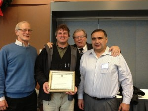 L-R: GSE Board Member Ed Mikel, Jon Garfunkel, KCCHR Board Members Tom Fairchild & Rob Purser
