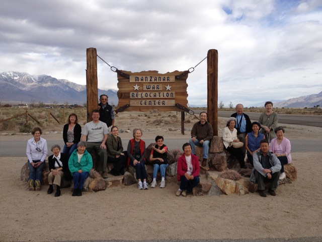 OWWCC Fourth Delegation at Manzanar National Historic Site, Independence, CA, April 2012. (copyright OWWCC)�