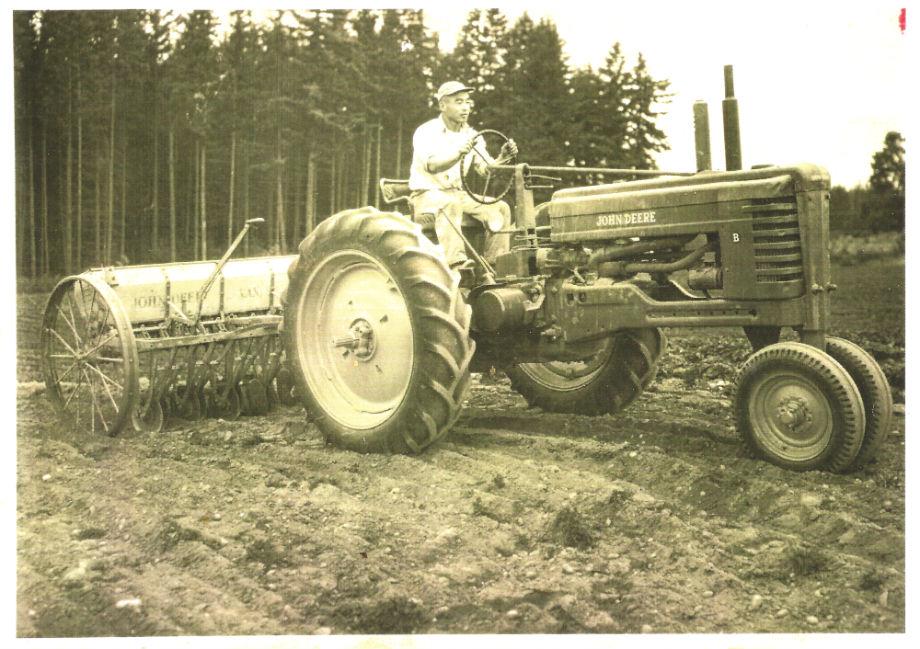 akio on tractor 1960s