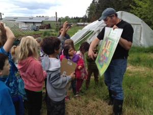 Ordway Elementary students learn about historic Suyematsu farm from EduCulture's Jon Garfunkle.